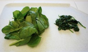 Cooking food destroys nutrient - spinach