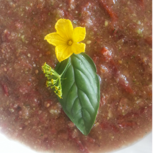 Got some serious salt cravings? Make this pomodoro raw vegan soup