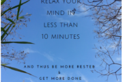 How to relax your mind in less than 10 minutes