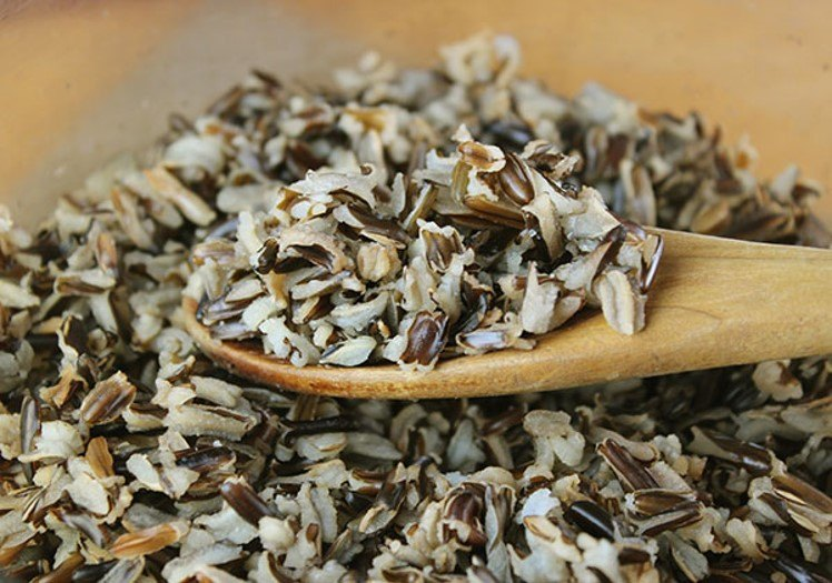3 Other Vegan Foods With Raw faces - bloomed wild rice